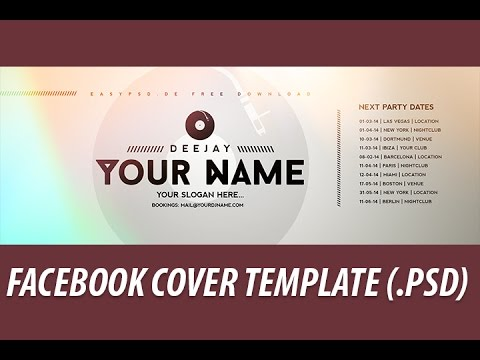 free facebook cover template 1 psd file youtube