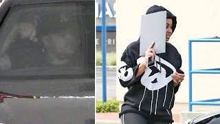 Rob Kardashian Screams At Photographers While He And Blac Chyna Go To In-N-Out And Two Banks