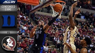 Duke vs. Florida State Condensed Game | 2018-19 ACC Basketball