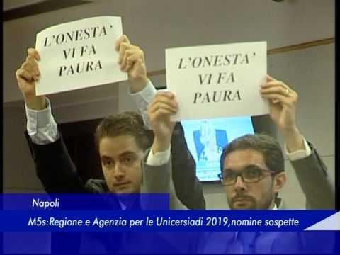Napoli: M5S, Regione e Agenzia per le Universiadi 2019, nomine sospette - 05 Maggio 2017