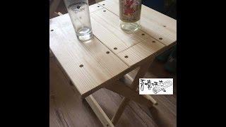 吾德沃克 #7 Folding table 原木折疊桌