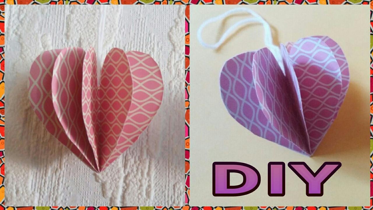 Für Muttertag : 3D Herz Aus Papier Basteln • DIY