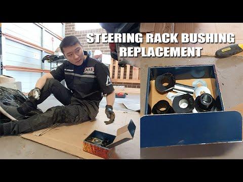 How To Replace Steering Rack Bushing On Toyota Landcruiser 100 Series