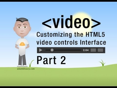 2. HTML5 Custom Video Player Seek Controls JavaScript Programming Tutorial