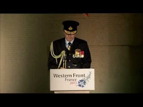 Chief of Air Force Villers Bretonneux, France - ANZAC Day 2013