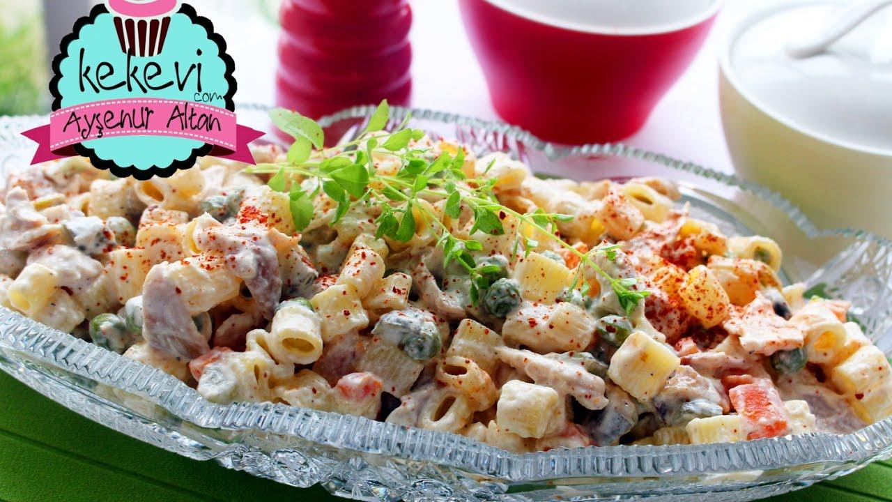 Füme Etli Makarna Salatası Tarifi