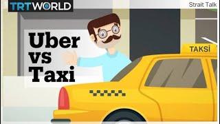 Zapętlaj In Turkey, Istanbul's taxi drivers battle with Uber | Strait Talk
