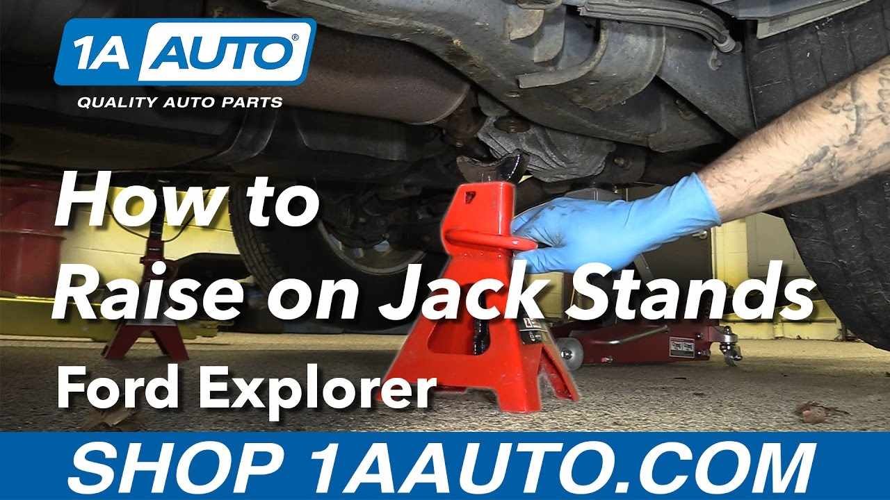 How To Raise Your   Ford Explorer On Jack Stands