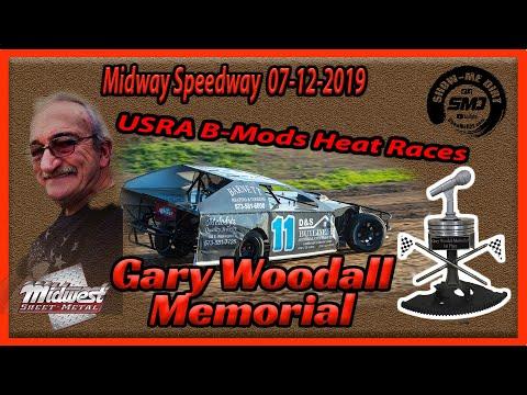 S03➜E331 - Gary Woodall Memorial - USRA B-Modifieds Heat Races - Lebanon Midway Speedway 07-12-2019