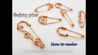 Simple safety pins from copper wire - A little change you have got a new pattern 512