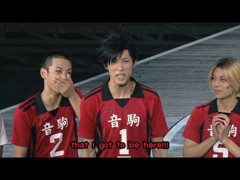 Hyper Projection Engeki 「Haikyuu!!」 Karasuno Revival!: Nekoma Cast's Speech (Eng Sub)
