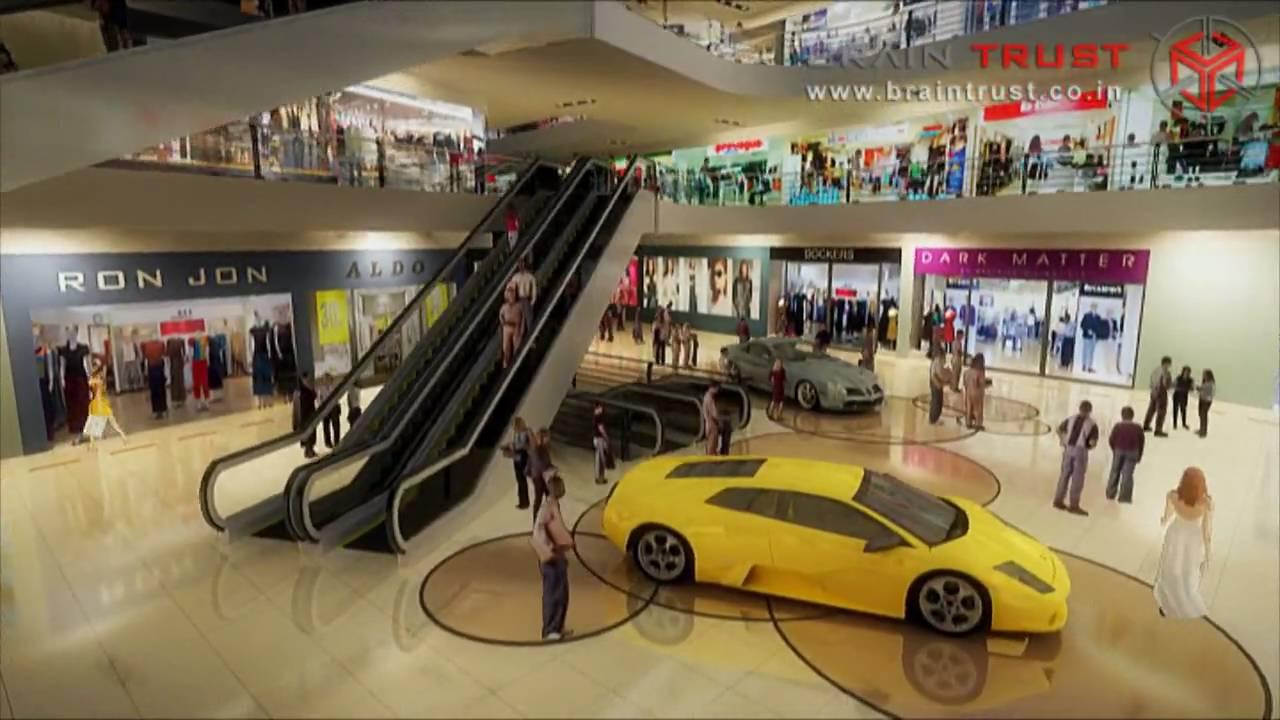 icon shopping mall hyd brain trust 3d walkthrough youtube