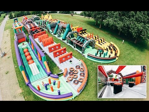 Thumbnail: The world's biggest bouncy castle is an incredible 893ft long