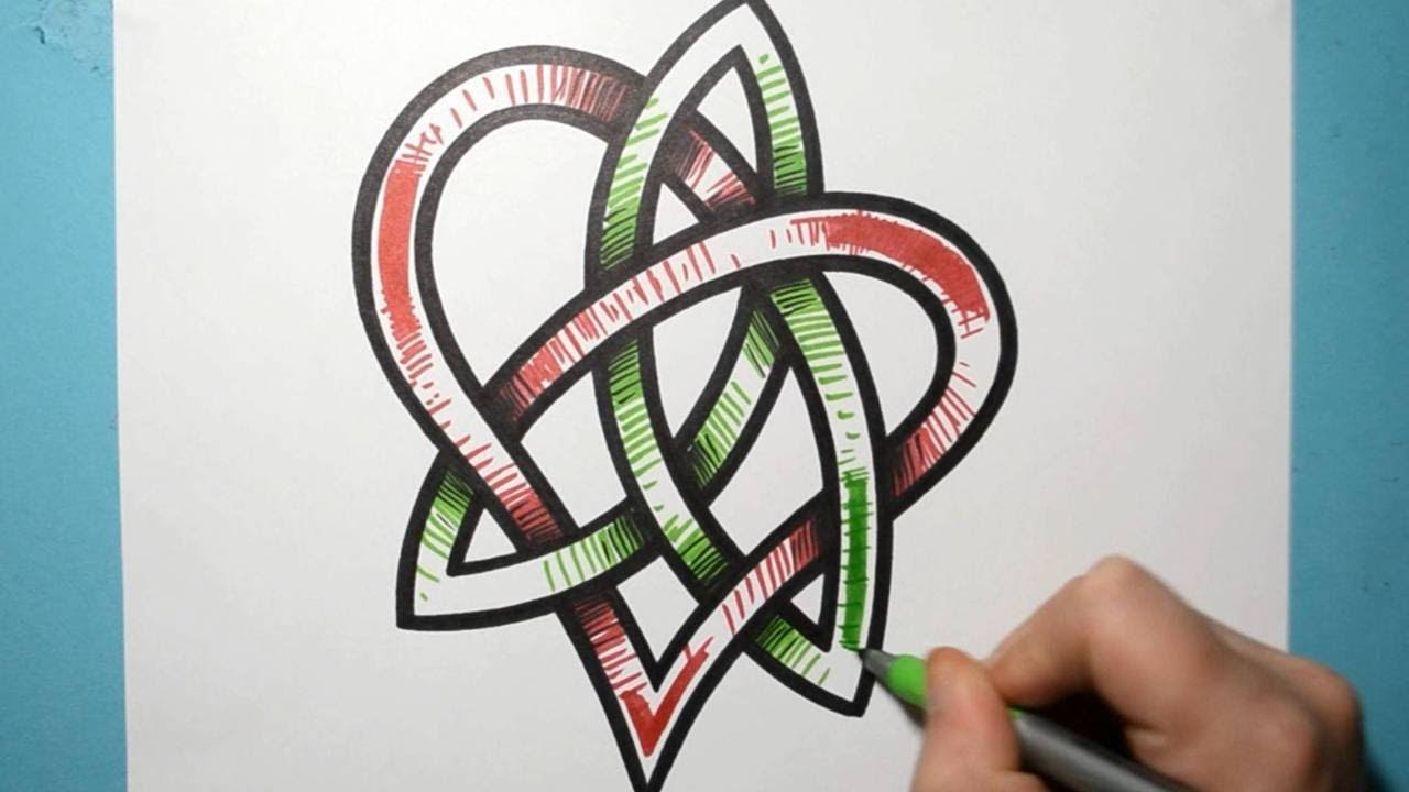 How To Draw A Graffiti Style Celtic Love Knot Youtube