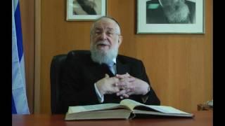 הרב ישראל מאיר לאו על יחזקאל פרק לז - חזון העצמות היבשות / בכי לאחר השואה