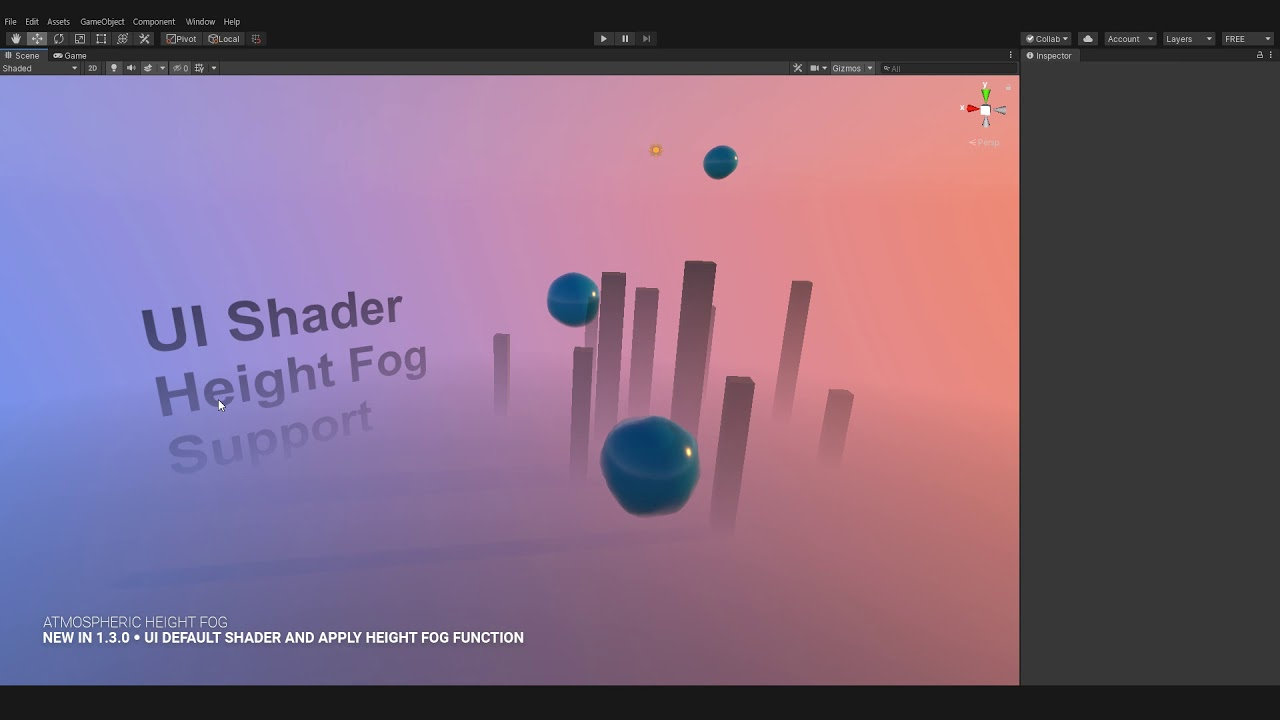 Atmospheric Height Fog for Unity ● UI Default Shader and Apply Height Fog  Function