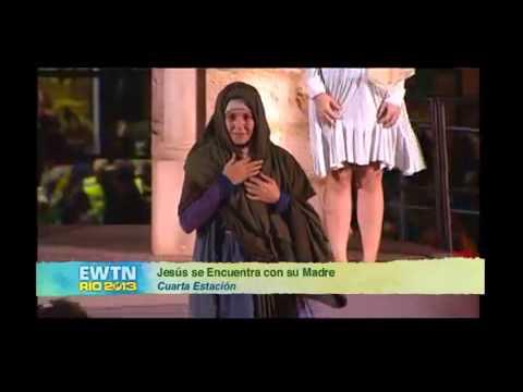 Vía Crucis JMJ 2013:Cuarta estación-Jesús encuentra a su Madre - YouTube