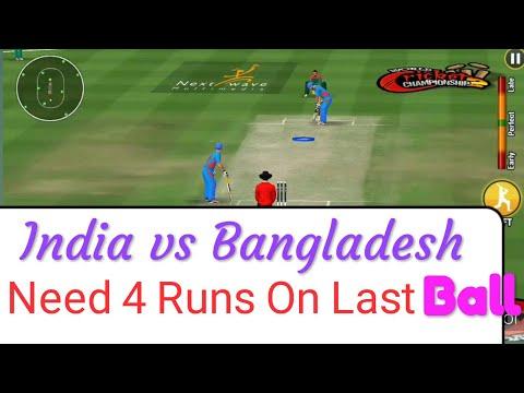 Need 4 Runs On Last Ball, India vs Bangladesh Cricket Match Wcc2.