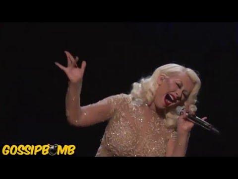 Christina Aguilera & Whitney Houston Hologram Duet - I Have Nothing & I'm Every Woman