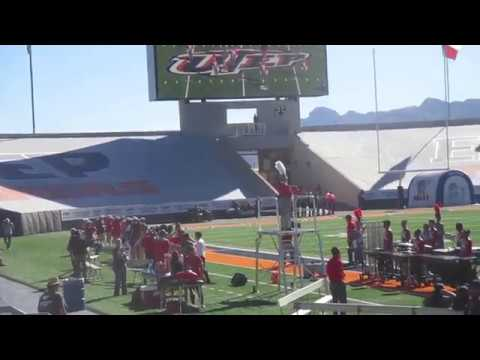 EL Paso Texas  Jefferson ,Silva Magnet high school Marching band pre game 2017