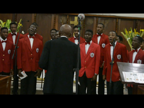"The Mona Campus Male Chorus ""Going To Shout All over God's Heaven"" (Negro Spiritual)"
