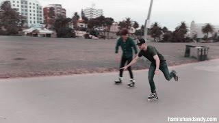 Hamish & Vance Joy Go Rollerblading