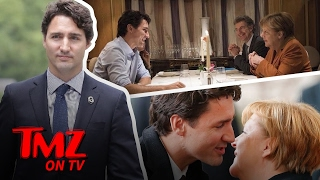 Justin Trudeau Is Charming His Way Through Germany | TMZ TV