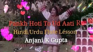 PANKH HOTI TO UD AATI RE FLUTE LESSON BY ANJANI KUMAR GUPTA