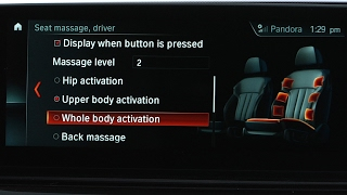 Seat Massage Controls | BMW Genius How-To