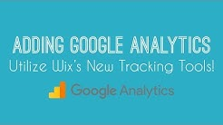 Adding Google Analytics To Your Wix Website - Wix Website Tutorial 2018 - Wix Tracking Tools