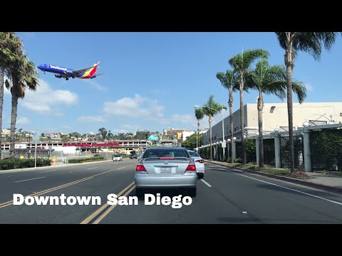 🔴  Downtown San Diego Driving Tour 4K