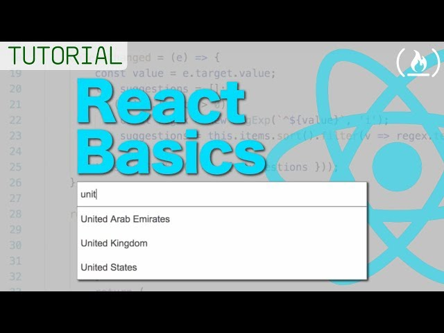 React Beginners Tutorial - Build an Autocomplete Text Box