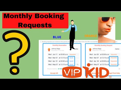VIPKid Monthly Booking Request Explained, VIPKID Bookings 2020