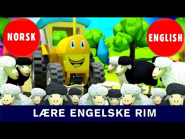 Lære Engelske Rim | Bæ bæ lille lam | Baa baa black sheep| Norske Barnesanger l barnesanger på norsk