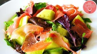 Parma Ham And Melon Salad - Салат с дыней, пармской ветчиной