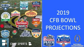 College Football Bowl Projections 2019: Updated Cfp Semifinals Match Ups & New Year's Six Bowl Games