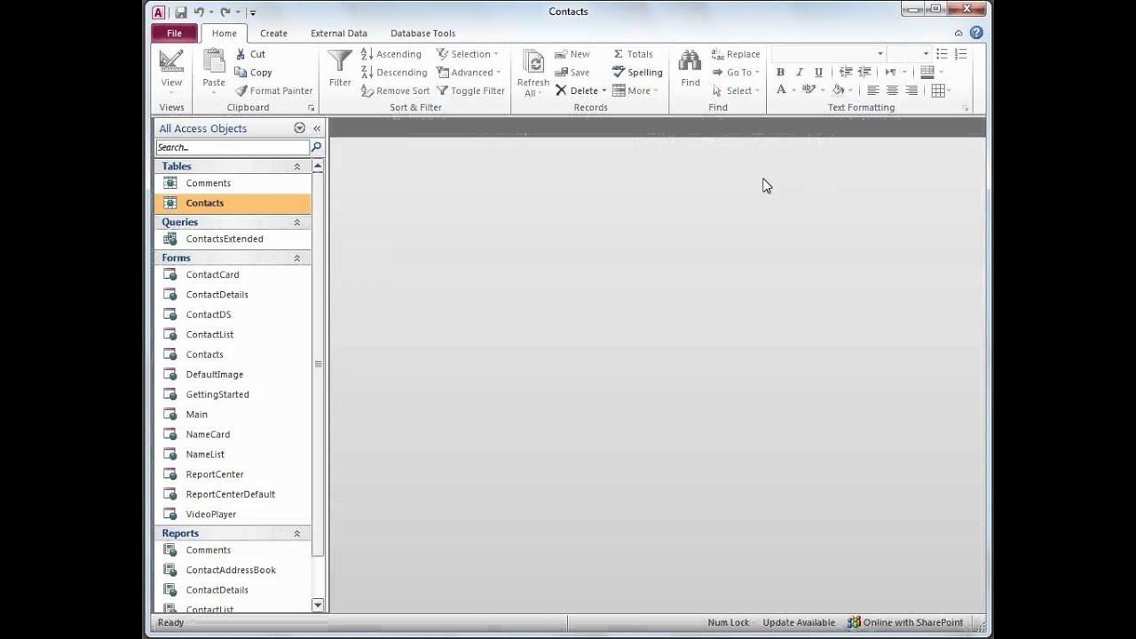 microsoft access 2010 templates