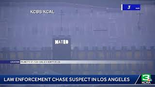 Law enforcement is chasing a suspect in Los Angeles; See LIVE VIDEO here: