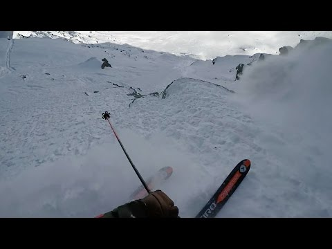 Reine Barkered's Line from Xtreme Verbier