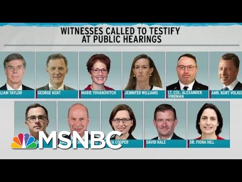 Schedule Set For Public Hearings In Trump Impeachment | Rachel Maddow | MSNBC