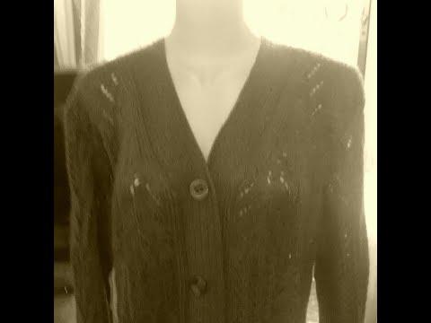 Женская кофта с V образным вырезом. Мастер класс часть 1