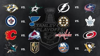 NHL Tonight:  Stanley Cup Playoffs   First Round predictions   Apr 7,  2019