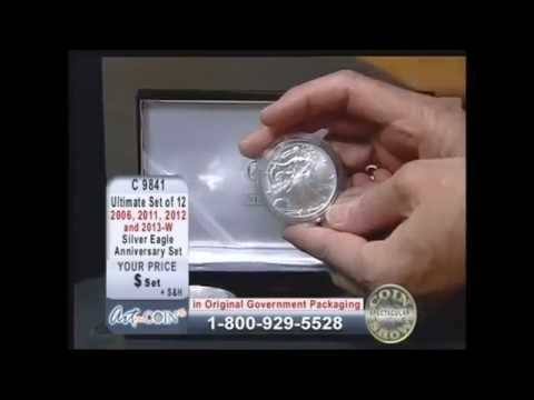 Ultimate Anniversary Set of 12 American Silver Eagles on Art and Coin TV