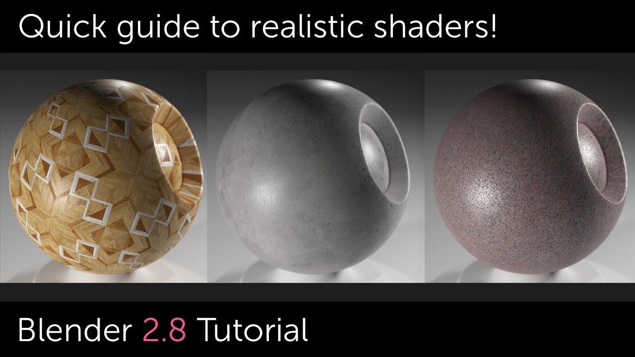 Blender 2 8 Material Setup (Realistic Base Shader) - BlenderNation