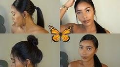 Slaying Ponytails w/ Wigs using Got 2b Glued - WowAfrican Silky Straight Brazilian Wig