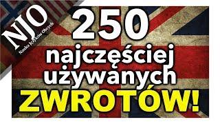 Zwroty po angielsku - Język angielski darmowy kurs - 250 zwrotów