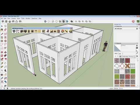SketchUp Extension Grid Dinding Otomatis - Tutorial 3