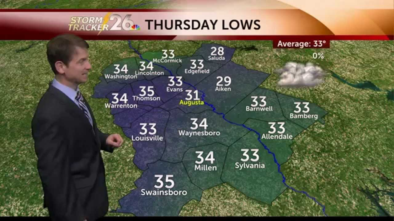 Nbc 26 Weather Forecast For Augusta Ga And Aiken Sc Area
