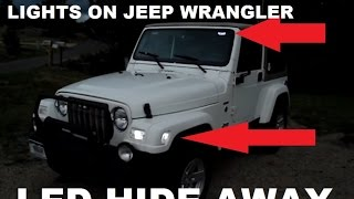 Download China LED Strobe Lights on POV Jeep Wrangler (HIDE AWAY) Mp3 and Videos