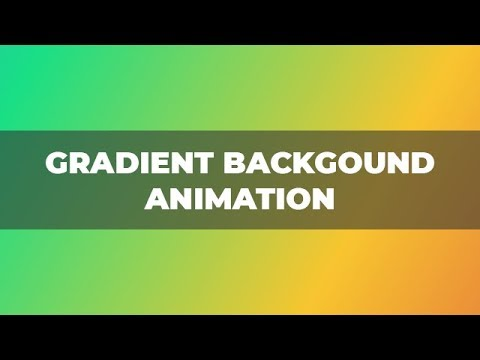Gradient Background Animation Using Only HTML & CSS